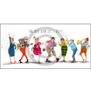 Leinwandbild Fine-Art-Print Museumsqualität Keilrahmen Drahtseilaufhängung handsigniert Zertifikat Limited Edition Illustration Humor Kreativ Geschenk Wohnaccessoire Dekoration Chapeau Marén Hamburg Hafencity