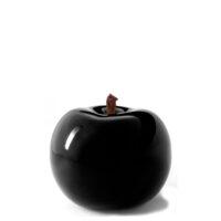 Designobjekt Apfel schwarz Keramik lasiert glänzend handgefertigt Wohnaccessoire Dekoration Chapeau Marén Hamburg Hafencity Elbphilharmonie