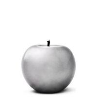 Designobjekt Apfel silber Keramik lasiert glänzend handgefertigt Blattsilber Unikat Wohnaccessoire Dekoration Chapeau Marén Hamburg Hafencity Elbphilharmonie