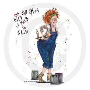 Holzbild Illustration Humor Kreativ Geschenk Wohnaccessoire Dekoration Chapeau Marén Tom und Konsorten Hamburg Hafencity