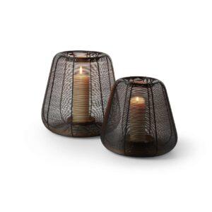 Luanda Teelicht Windlicht Stahldraht beschichtet gold Kerzen Philippi Design Wohnaccessoire Chapeau Marén Hamburg Hafencity Elbphilharmonie
