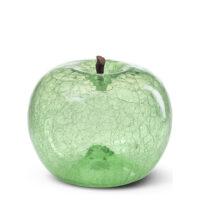 Designobjekt Apfel Crackled Glass Emerald Designobjekt mundgeblasen Lisa Pappon indoor outdoor Chapeau Marén Hamburg Hafencity Elbphilharmonie Wohnaccessoire