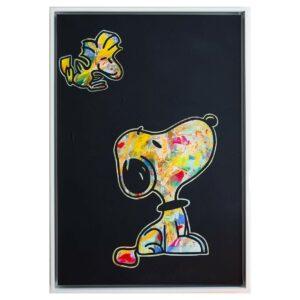 Kunst Gemälde Original Unikat Temorscha Zoltani Snoopy Tweety Disney Klassiker Leinwand Acryl 2020 Wohnaccessoire Dekoration Chapeau Marén Hamburg Hafencity Elbphilharmonie