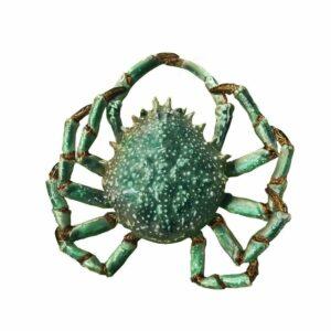 Designobjekt SpiderCrab grün Crustacea Keramik lasiert glänzend handgefertigt Unikat Wohnaccessoire Dekoration Chapeau Marén Hamburg Hafencity Elbphilharmonie