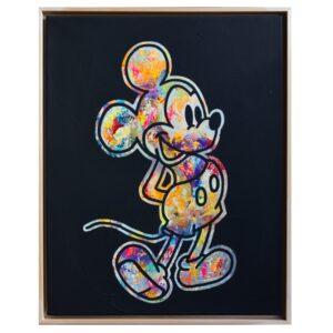 Kunst Gemälde Original Unikat Temorscha Zoltani Mickey Mouse Disney Klassiker Leinwand Acryl 2020 Wohnaccessoire Dekoration Chapeau Marén Hamburg Hafencity Elbphilharmonie