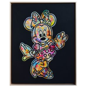 Kunst Gemälde Original Unikat Temorscha Zoltani Minnie Mouse Disney Klassiker Leinwand Acryl 2020 Wohnaccessoire Dekoration Chapeau Marén Hamburg Hafencity Elbphilharmonie