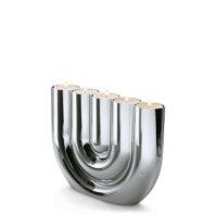 Double U Teelichthalter Teelicht Kerzenlicht Kerzen 50er Jahre Chrom elegant geschwungen hochglanzpoliert Designobjekt Philippi Design Wohnaccessoire Dekoration Chapeau Marén Hamburg Hafencity