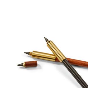 Pencil Dauerbleistift Bleistift braun schwarz Druckholz Messing Designobjekt Philippi Design Wohnaccessoire Dekoration Chapeau Marén Hamburg Hafencity